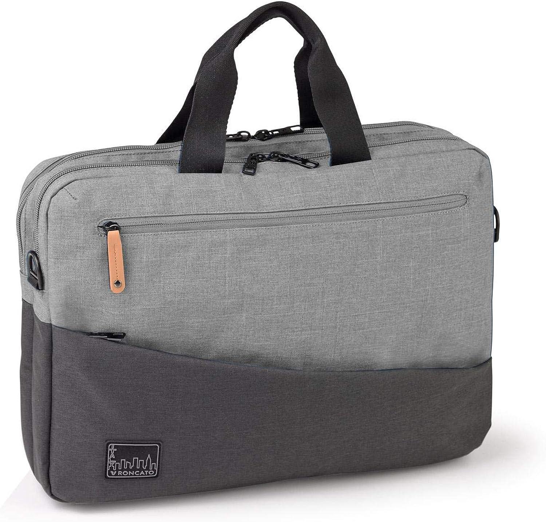 Roncato Bolsa Porta Computador Adventure Biz - Cabina cm 29 x 41 x 11, Ligero, Organización Interna, Bandolera, Garantìa 2 años