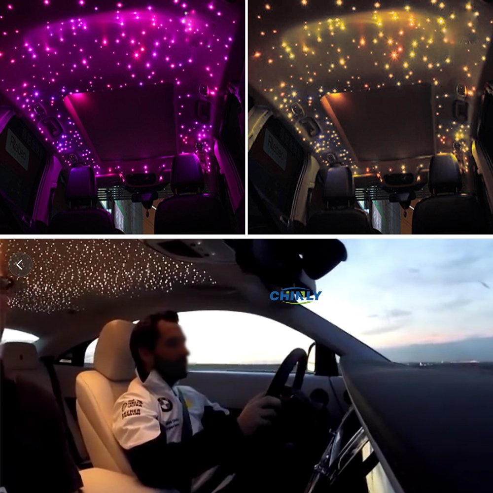 Car use 12W RGBW Remote Music Mode LED Fiber optic light Star Ceiling Kit Lights 260pcs 0.03in 6.5ft optical fiber lighting by CHINLY (Image #8)