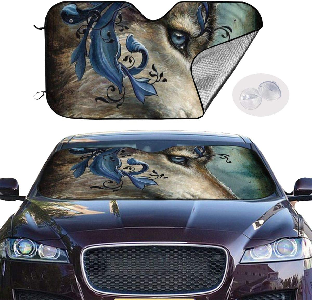 TPSXXY-WS Dragonfly Dream Dreamcatcher Windshield Sunshade for Car SUV Truck Foldable UV Ray Reflector Front Window Sun Shade Visor Shield Cover