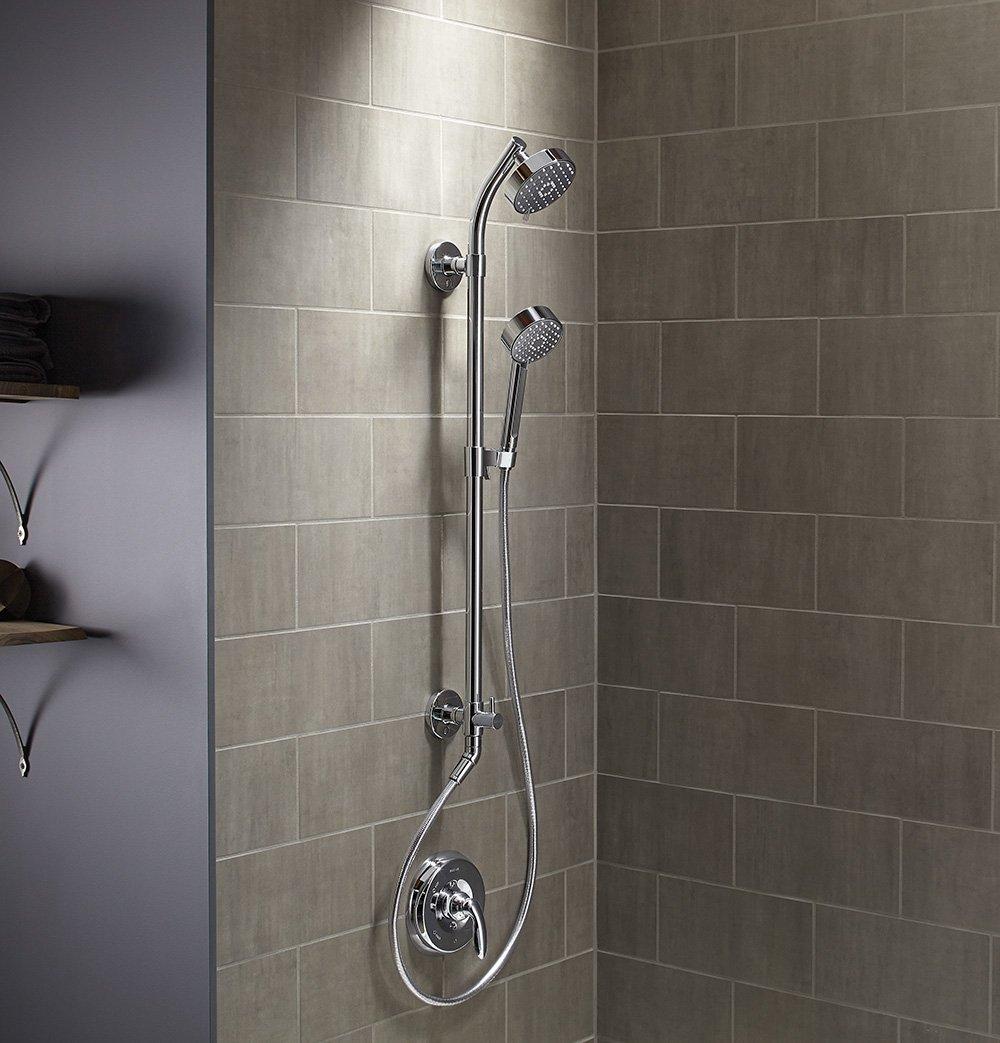 Beau KOHLER K 45905 CP Hydro Rail S Bath And Shower Column, Polished Chrome    Shower Arms And Slide Bars   Amazon.com