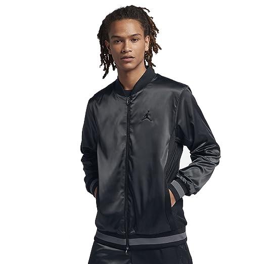 065b65b52ba085 Amazon.com  Jordan Satin Bomber Jacket Mens - Black Grey (Large ...