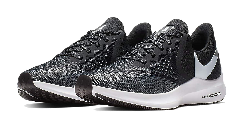 ceaaa4fab67df Amazon.com | Nike Womens Zoom Winflo 6 Running Sneakers Black/White-Dark  Grey AQ8228-003 (10 B US) | Road Running