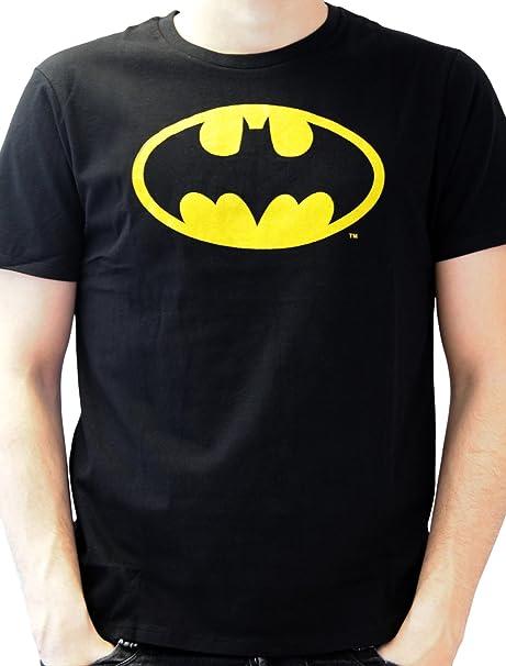 0895fde38b743a Batman - Logo, T-Shirt da Uomo, Nero (Noir), Small