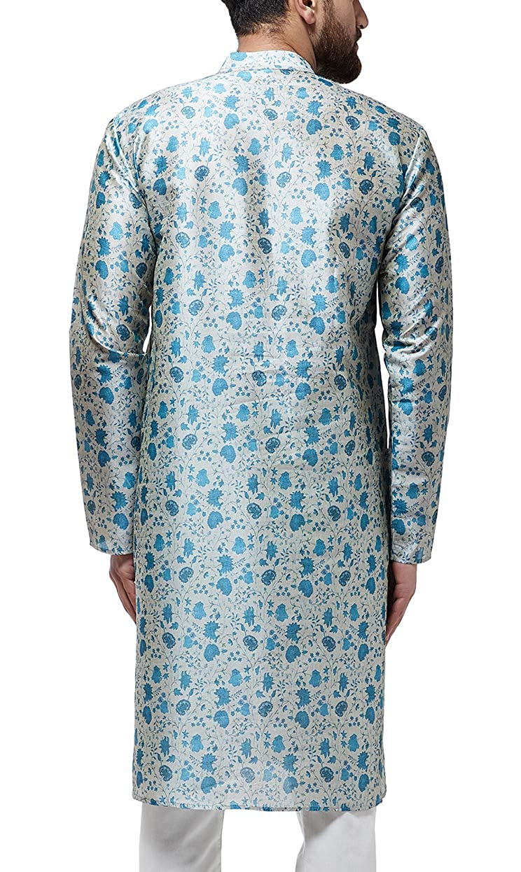 Festival-Men-Dupion-Silk-Kurta-Pajama-Ethnic-Party-Wear-Bollywood-Dress-Pyjama thumbnail 16
