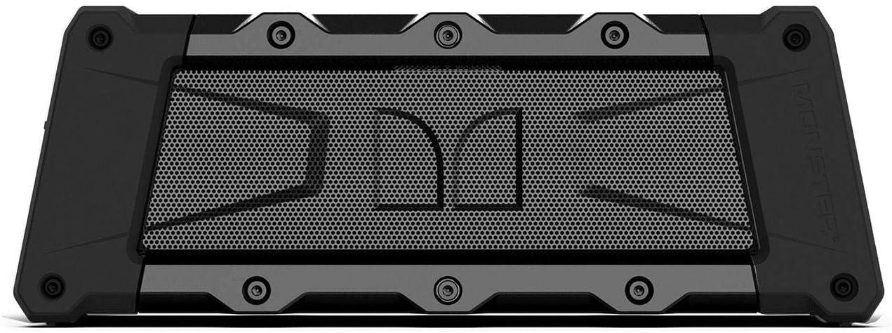 Monster Slate Portable Bluetooth Speaker, 20 Watts, Water Resistant IP67, Speakerphone, Up to 12 hours of Playtime