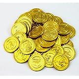 おもちゃのお金 金貨 100枚コインセット 海賊ゲーム おもちゃのお金 偽コインゲーム ゴールドコイン プラスチックのチップ