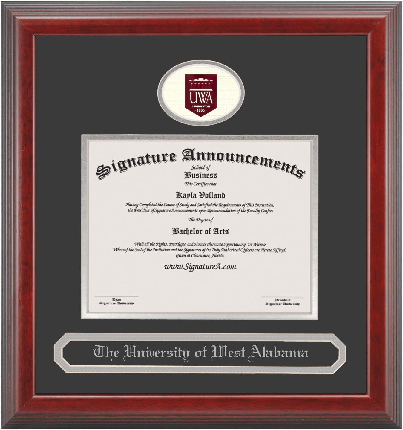 Professional//Doctor Sculpted Foil Seal /& Name Graduation Diploma Frame 16 x 16 Cherry Signature Announcements Western-Washington-University Undergraduate