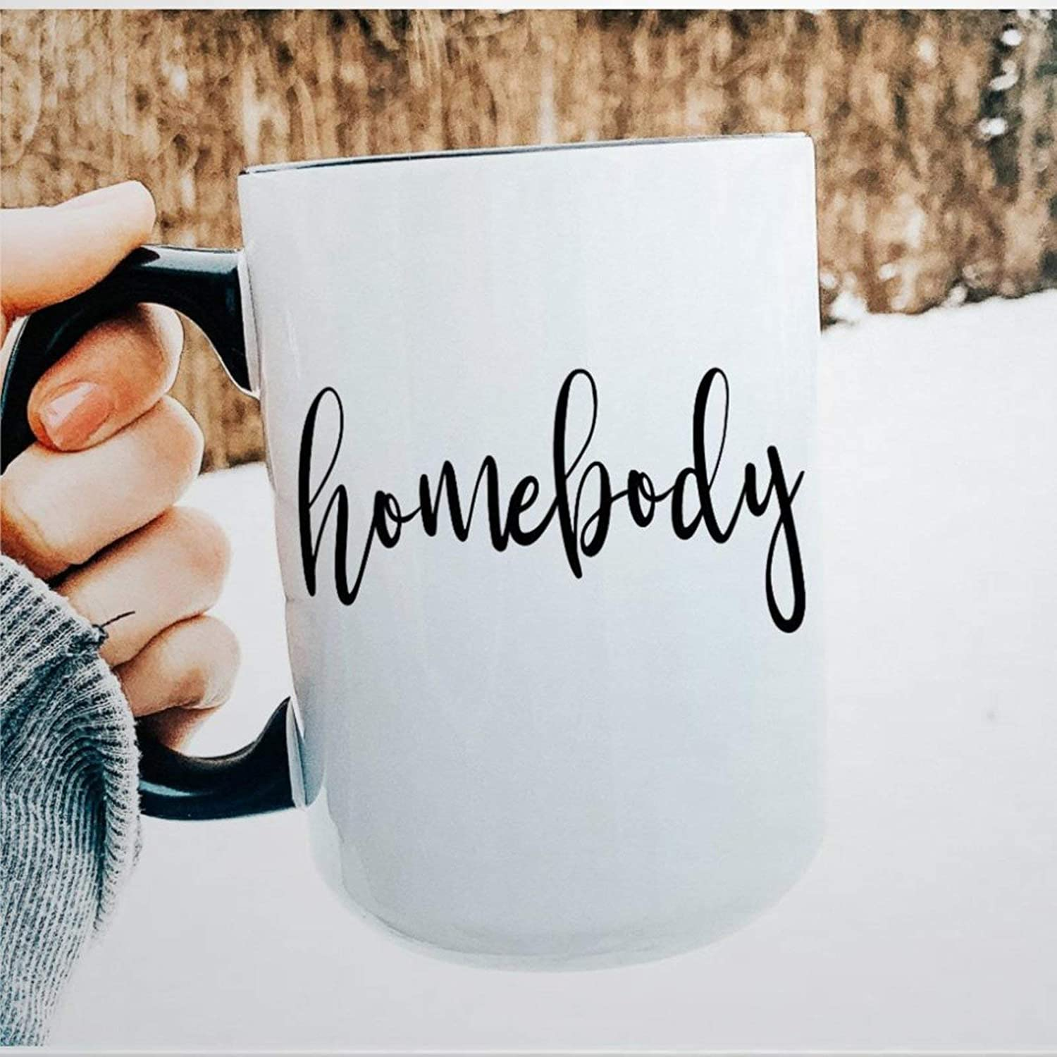 Homebody Present, Homebody Mug Coffee Mug Best Friend Present, Lets Stay Home Novelty Ceramic Tea Cup Christmas Birthday Present for Men Women