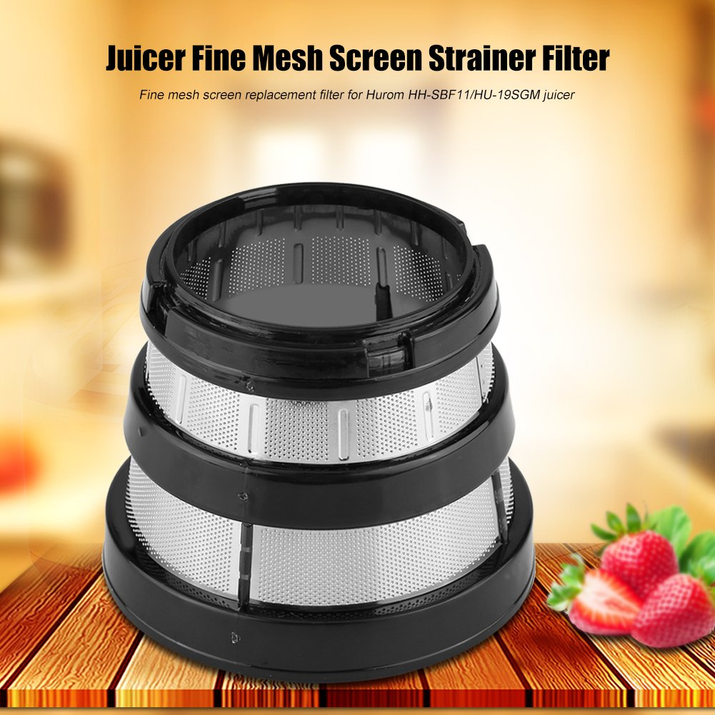 Juicer Filters,Slow Juicer Fine Mesh Screen Strainer Filter Small Hole for Hurom HH-SBF11 HU-19SGM Parts Filters Basket by Haofy (Image #3)