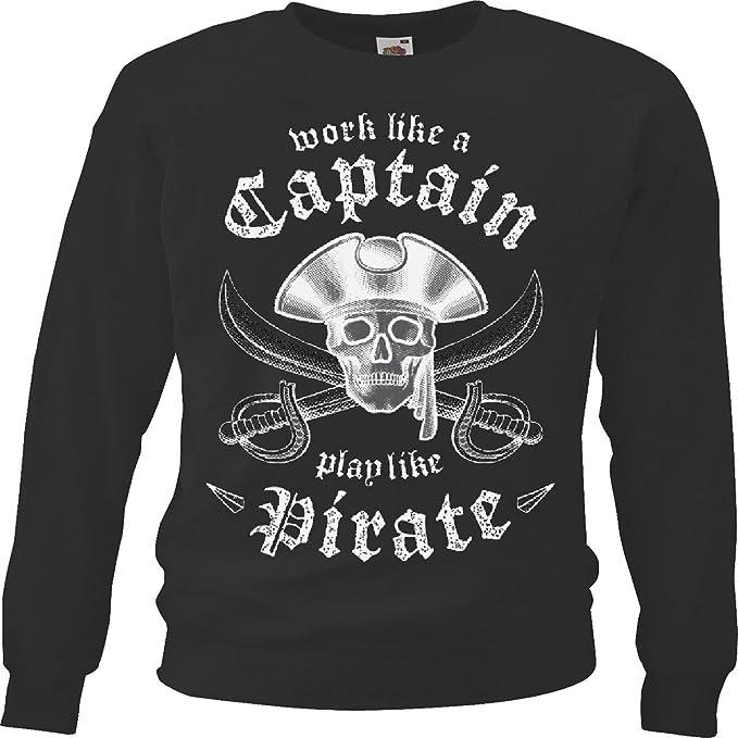 Sudaderas Suéter Pirata - Bucanero - Raiders - Daga - Jack - Caribe in Negro: Amazon.es: Ropa y accesorios