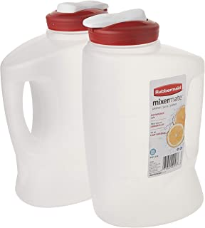 product image for Rubbermaid 1776501 3-Qt. Seal N' Saver Pitcher/Bottle (Pack of 2), 2 pack, Red