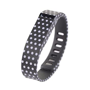 1pc Orange with White Dots Spots Replacement Band With Clasp for Fitbit  FLEX Only /No tracker/ Wireless Activity Bracelet Sport Wristband Fit Bit  Flex
