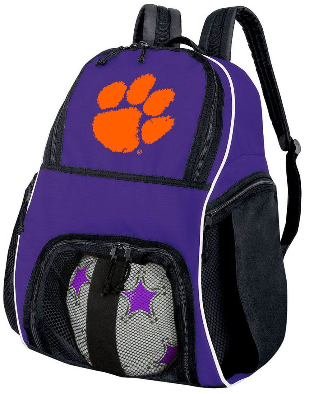 Broad Bay Clemson Soccer Backpack or Volleyball Bag Purple