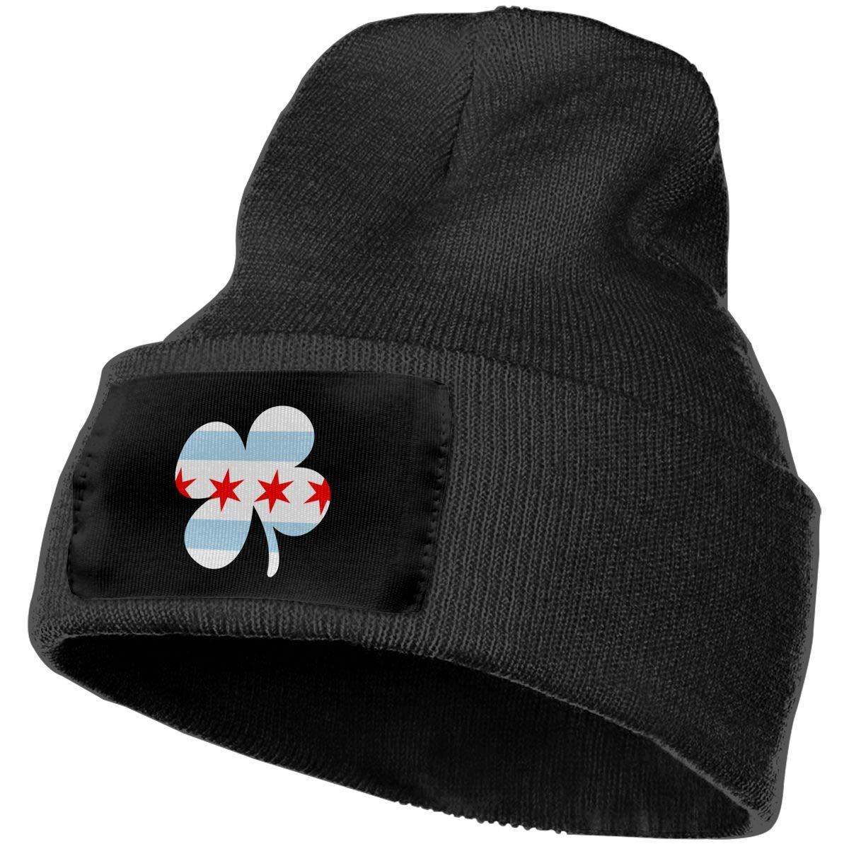 COLLJL-8 Men /& Women Irish Chicago Flag Shamrock Outdoor Fashion Knit Beanies Hat Soft Winter Skull Caps