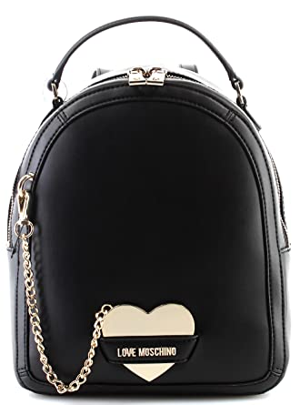 59f029f191ef Women s Bag Backpack LOVE MOSCHINO Calf PU Nero Black Mirror Heart New   Amazon.co.uk  Clothing