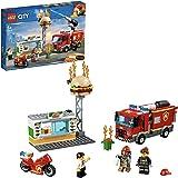 LEGO City Fire - Rescate del Incendio en la Hamburguesería, Set de Construcción de Aventuras de Bomberos, Incluye Camión…