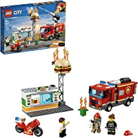 Lego Toy City Burger Bar Fire Rescue , For age 5 Years and above - 60214