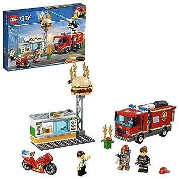 Construction Hamburgers Jeu L'intervention Des Pompiers Au De City 60214 Lego Restaurant uwOPkZTXi