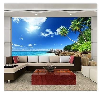 Murale Personalizzato Murales 3d Wallpaper Rotolo Cielo Azzurro