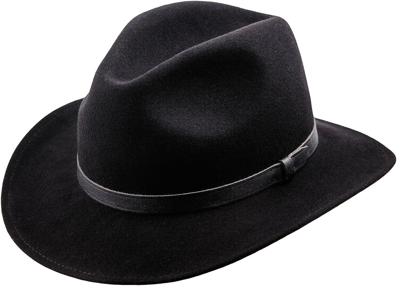 Cappello Fedora in feltro di lana a tesa larga Sterkowski