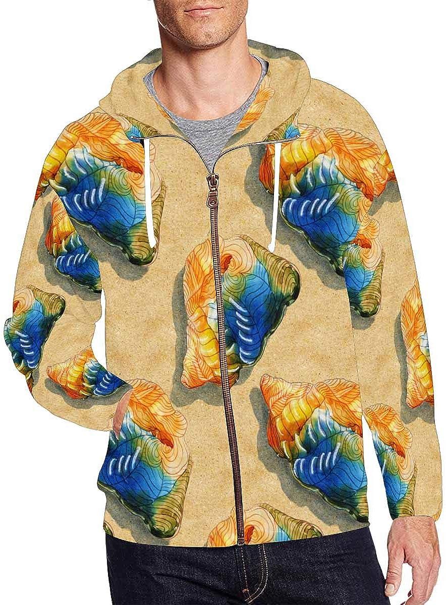 INTERESTPRINT Mens Full Zip Hoodies Embroidery Cats Zentangle