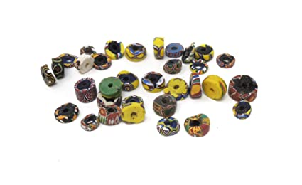 Amazon.com: 33 Trade Beads Venetian Grab Bag Slices Africa ...