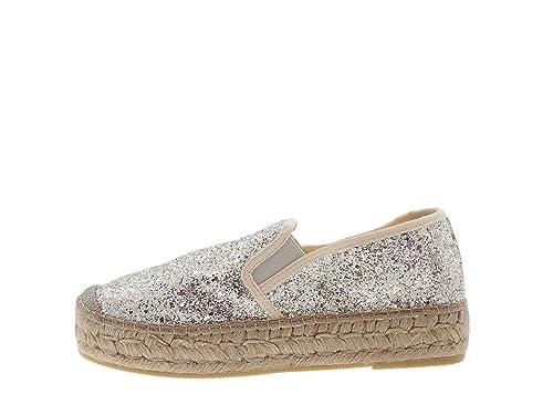 Vidorreta - Alpargatas para Mujer Gris Platino Gris Size: 38: Amazon.es: Zapatos y complementos