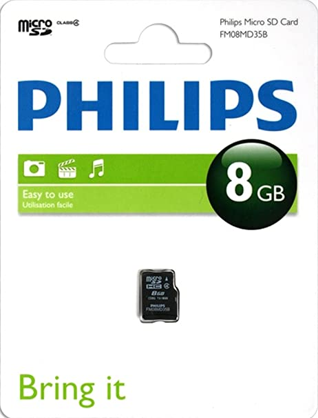 Philips Tarjetas microSD FM08MD35B/10 - Tarjeta de Memoria ...