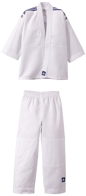 adidas Evolution - Quimono de judo pequeño blanco, color blanco, tamaño 100 / 110 cm