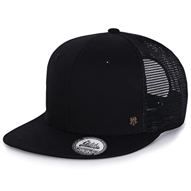 ililily Extra Large Size Solid Color Flat Bill Snapback Hat Blank Baseball  Cap d9631d23110