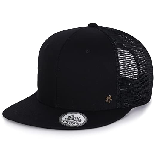 8d3b486dd6a ililily Extra Large Size Solid Color Flat Bill Snapback Hat Blank Baseball  Cap