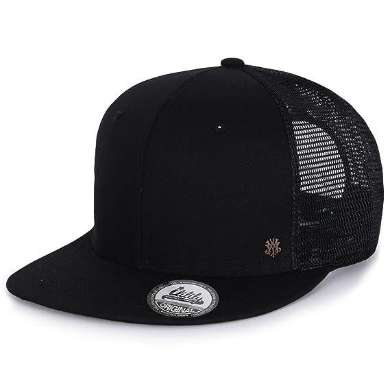 091237c42aa ililily Extra Large Size Solid Color Flat Bill Snapback Hat Blank Baseball  Cap