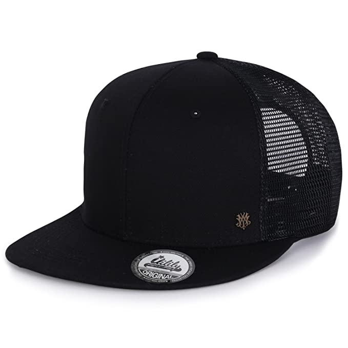 ililily Extra Large Size Solid Color Flat Bill Snapback Hat Blank Baseball  Cap  cec74fcf453