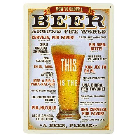 20x30cm Placa Chapa Cartel Póster de Pared Metal Arte Decoración para Bar de Cerveza Cafetería # 4