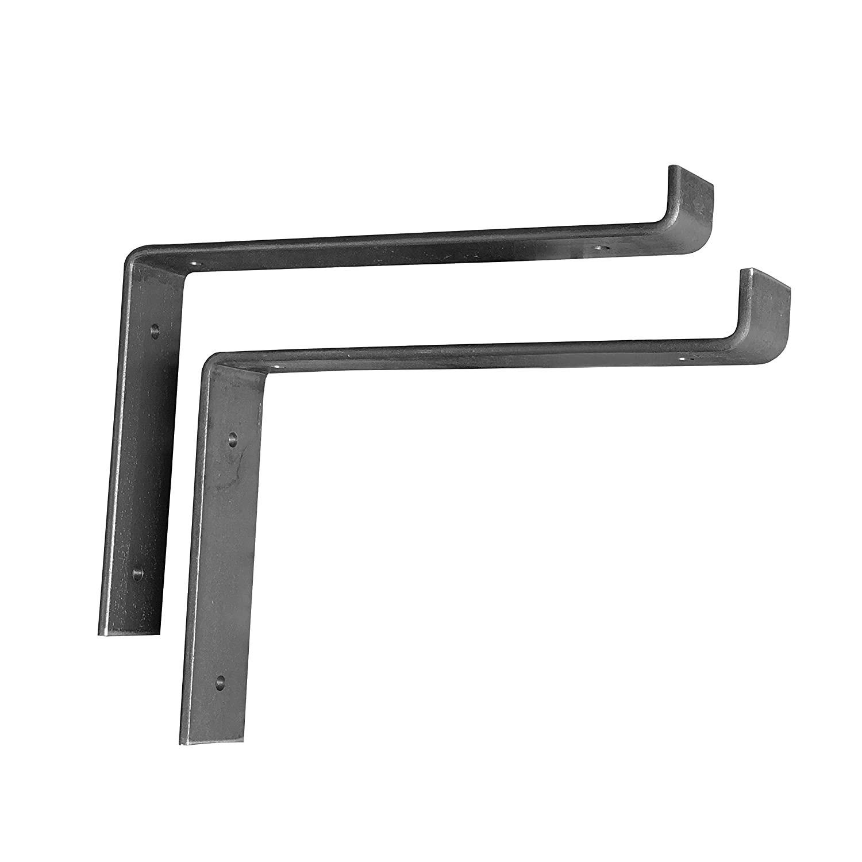"2 Pack - 9.25""L X 6""H Lip Shelf Bracket, Iron Shelf Brackets, Metal Shelf Bracket, Industrial Shelf Bracket, Modern Shelf Bracket, Shelving"