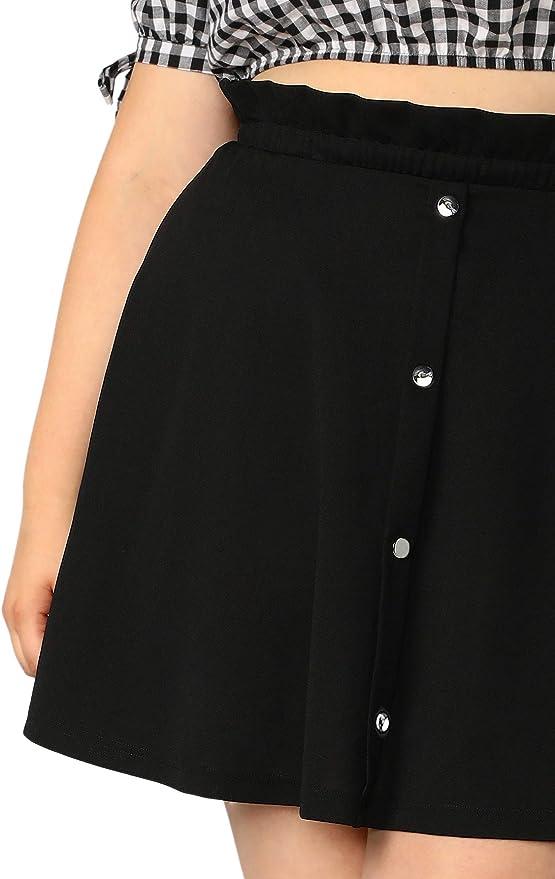 SheIn - Mini falda corta para mujer, talla grande, básica ...