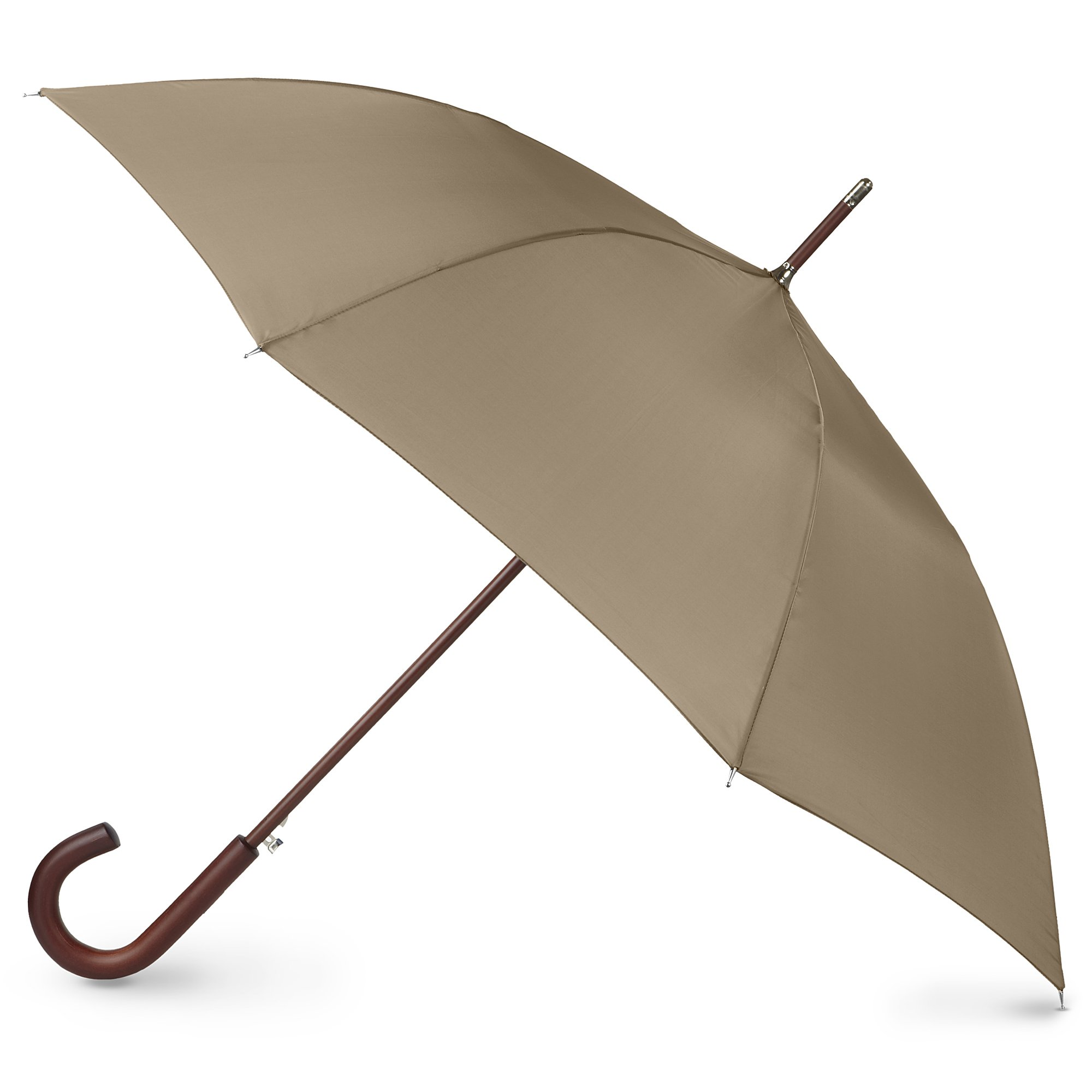 totes Auto Open Wooden Stick Umbrella,  British Tan,  One Size by totes