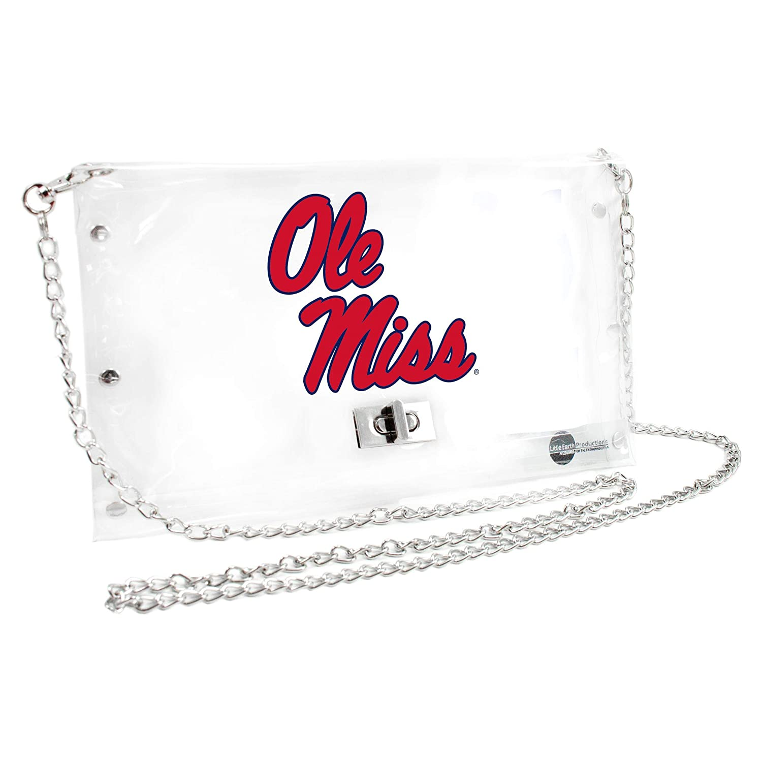 Inch Littlearth Mississippi Old Miss Rebels  NCAA Envelope Purse Clear 10 x 0.5 x 6.5
