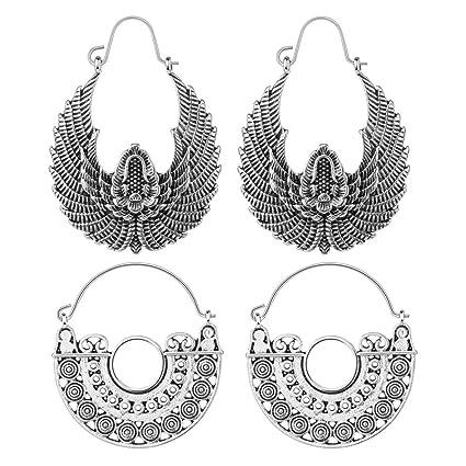 Jewelry & Watches Glorious Tribal Earring Brass For Boho Women Dangle Drop Gold Hook Gypsy Fashion Jewelry Earrings
