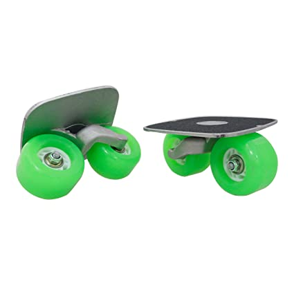 8c807656b Goldway Green Drift Skate Plates with Pu Wheels ABEC-7 Bearings (Green)