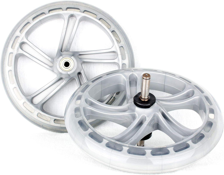 Hepros Roues de Rechange en PU pour Trottinette Space Scooter Argent/é 200 mm