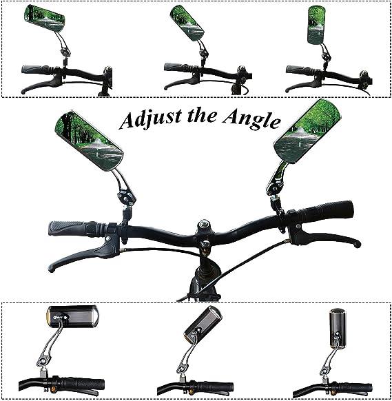 Amazon.com: Happymart - Espejos para bicicleta con rotación ...
