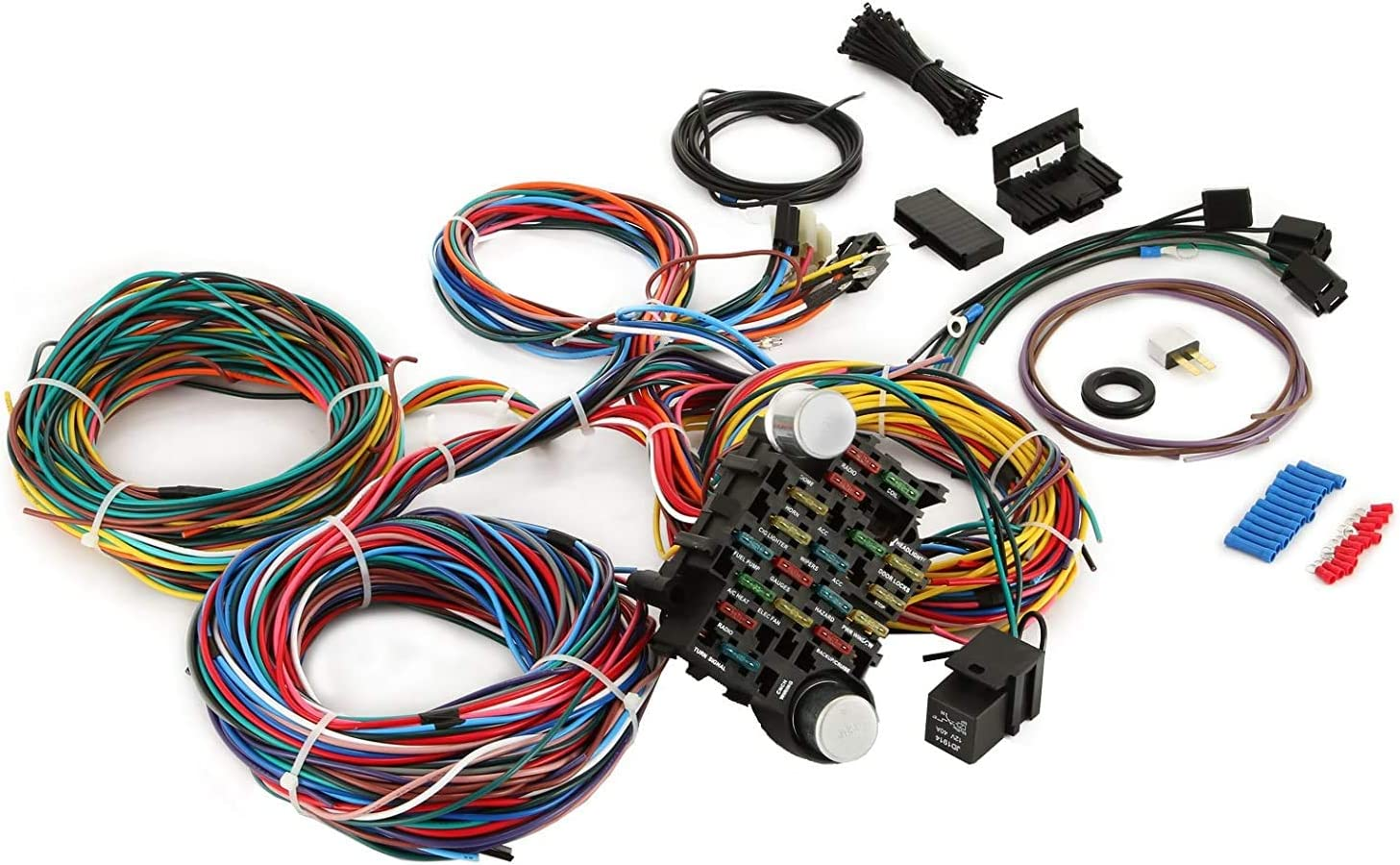 [WQZT_9871]  Amazon.com: VEVOR 12 Circuit Wiring Harness Kit Long Wires Wiring Harness  Universal Wiring Harness for Hot Rods, Race Cars: Automotive | Universal Wiring Harness Kit |  | Amazon.com
