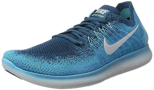 reputable site 924b7 aea56 Nike Mens Free Rn Flyknit 2017 Trail Running Shoes, LagoonPure  Platinum-Legend