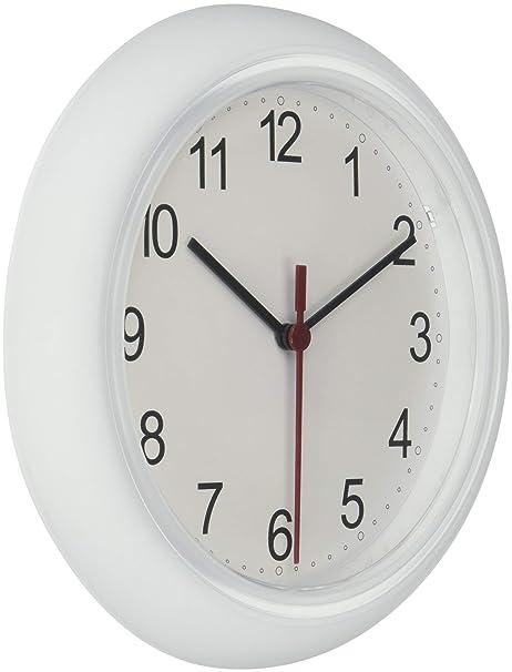 Ikea 3 x Rusch 25 x 4 cm orologio da parete, bianco: Amazon ...