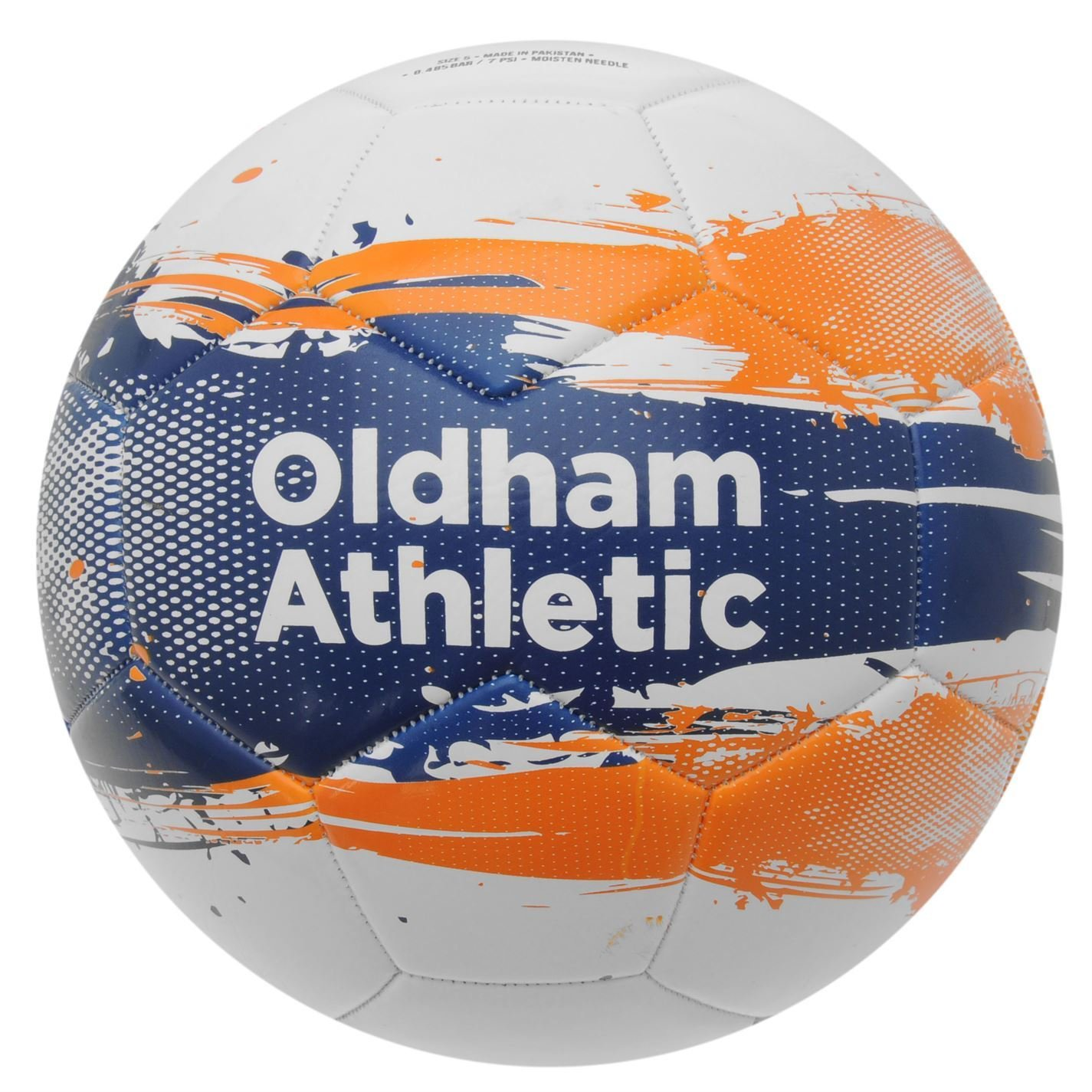 Oldham Athletic FC Graphic Football Blanco/Azul/Naranja Balón de ...