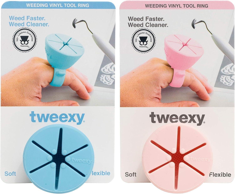 tweexy Green Glow /& Mermaid Weeding Vinyl Tool Rings 2 Pack