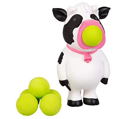 Hog Wild Cow Popper Toy - Shoot Foam Balls Up to 20 Feet - 6 Balls Included - Age 4+: Toys & Games