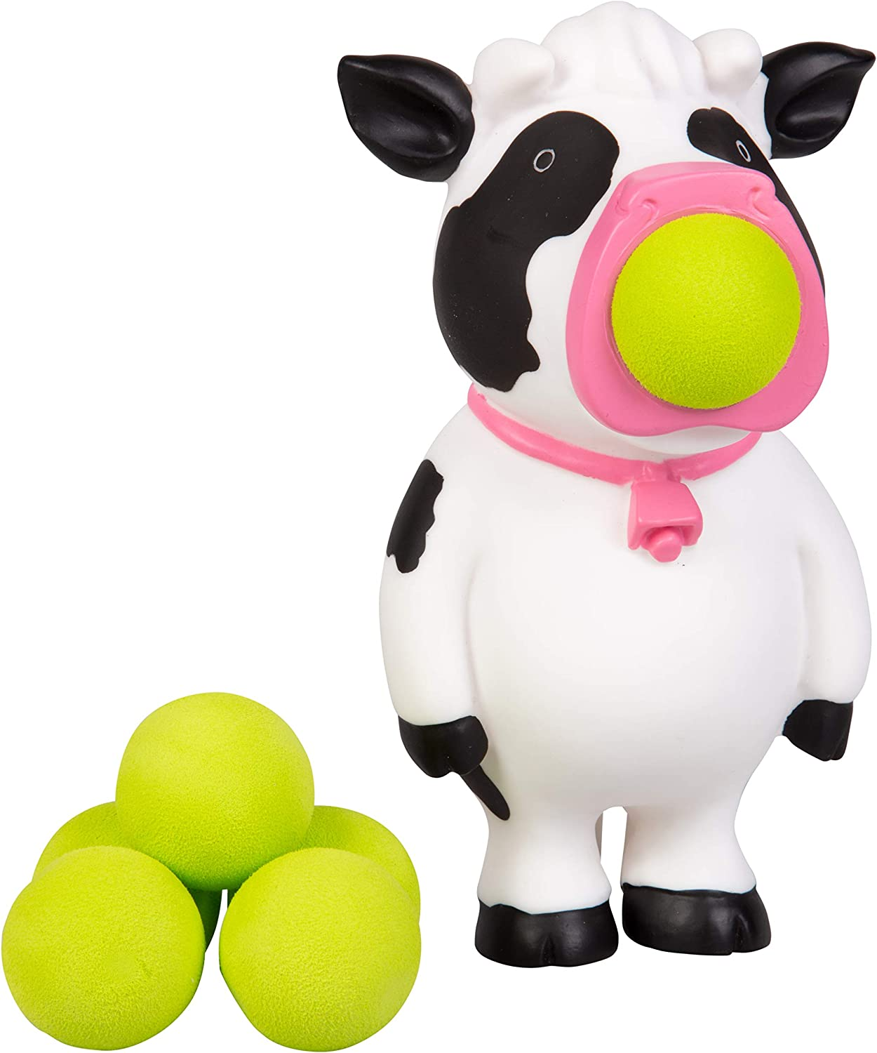 Hog Wild Cow Popper Toy - Shoot Foam Balls Up to 20 Feet - 6 Balls Included - Age 4+