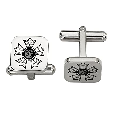 Sigma Nu Symbol Cufflinks Rounded Square Style Stainless Steel